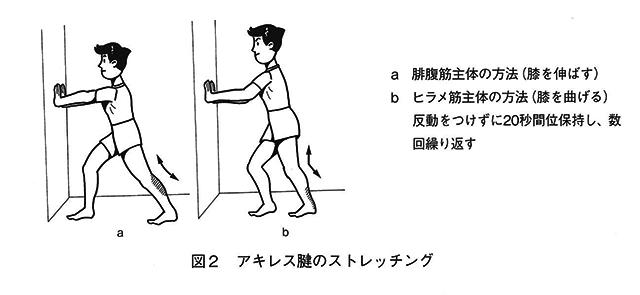 図2アキレス腱のストレッチング